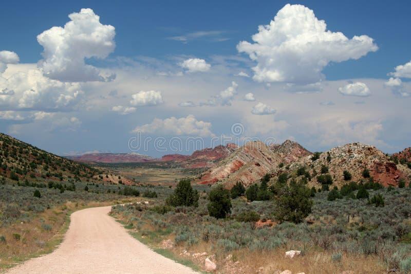 De verre Landweg van de Woestijn stock fotografie