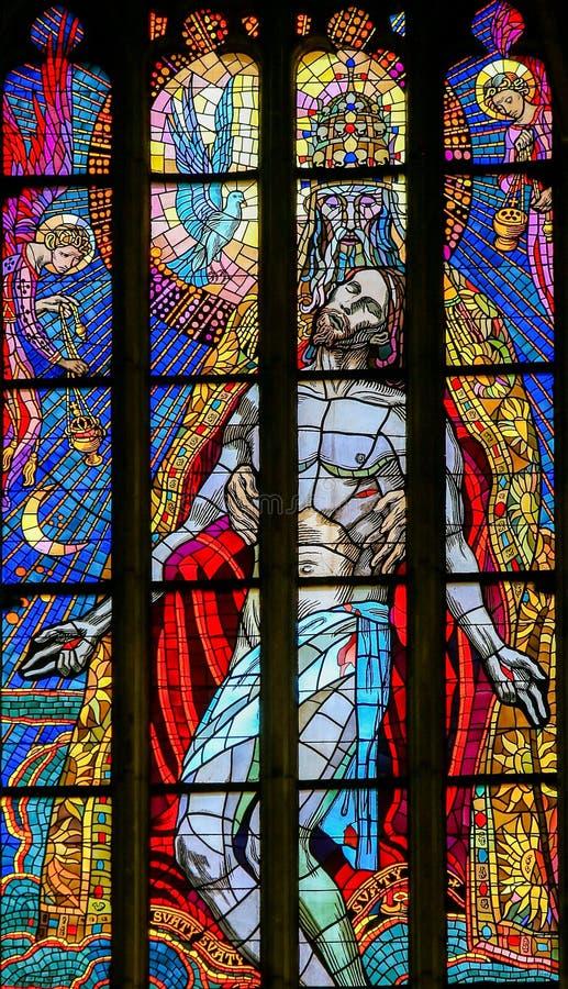 De verre souillé - trinité sainte photo stock
