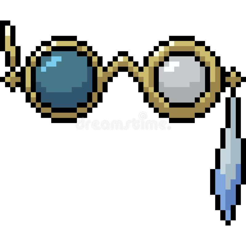 De verres étranges d'art de pixel de vecteur illustration libre de droits