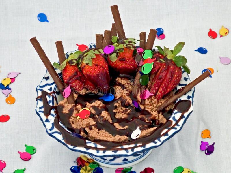 De Verrukking Van De Chocolade Stock Foto's