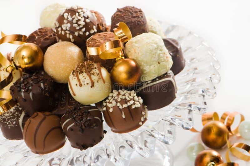 De Verrukkingen van de chocolade royalty-vrije stock foto's
