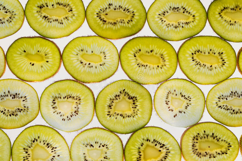 De vers fruitplakken vatten naadloze patroonachtergrond, groen k samen royalty-vrije stock afbeeldingen