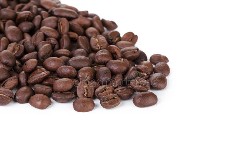De vers geroosterde grens van koffiebonen stock afbeeldingen