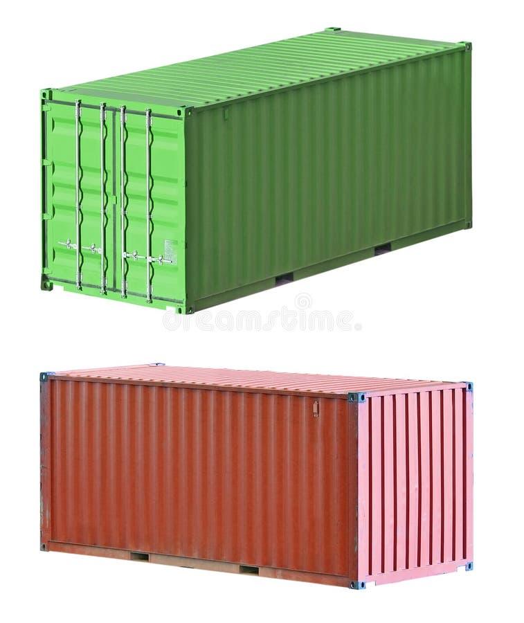 De verschepende containers van de vracht royalty-vrije stock foto's