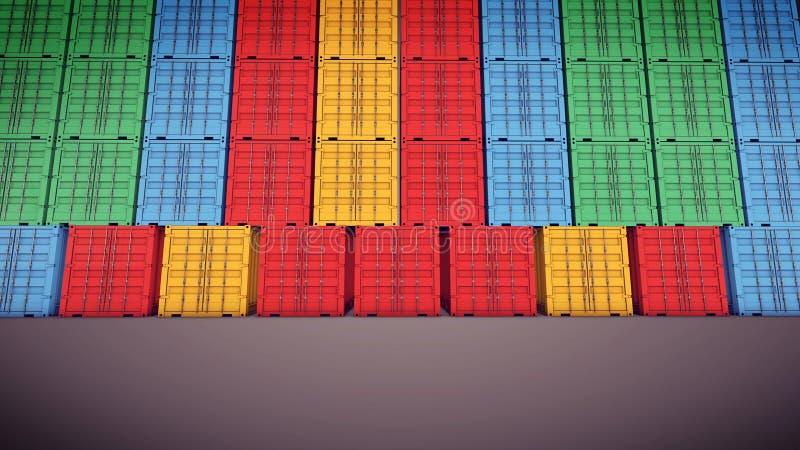 De verschepende containers van de vracht stock illustratie