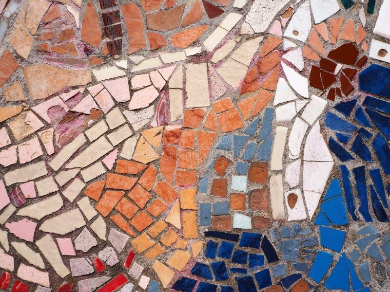 De verschillende abstracte achtergrond van het kleurenmozaïek royalty-vrije stock fotografie