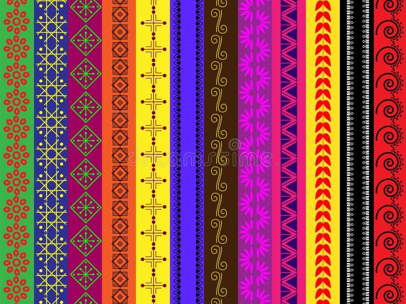 De verschillende grenzen van de kleurenHenna royalty-vrije illustratie