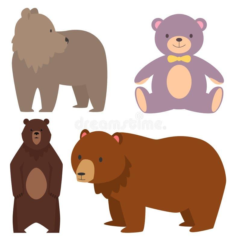 De verschillende stijl draagt grappige gelukkige roofdier leuke het karakter vectorillustratie van het dierenbeeldverhaal vector illustratie
