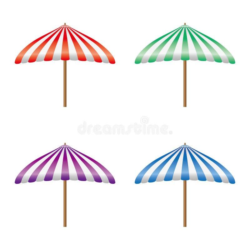 De verschillende vector van de kleurenparasol stock foto's
