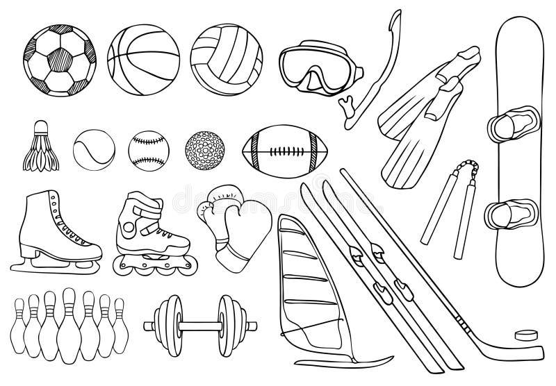 De verschillende vectorreeks van sportpunten stock illustratie