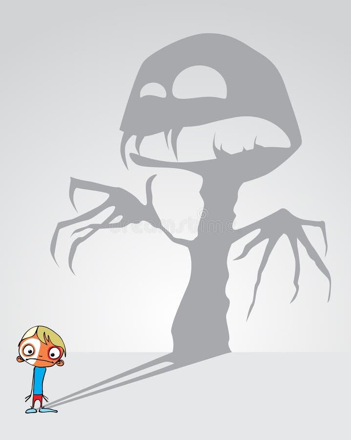 De verschrikking van kinderen vector illustratie