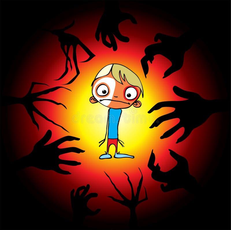 De verschrikking van kinderen royalty-vrije illustratie