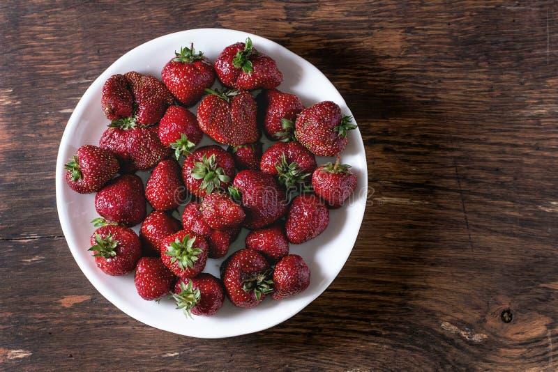 De verse Aardbeien van de Tuin stock afbeelding
