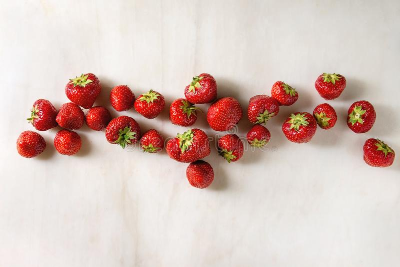 De verse Aardbeien van de Tuin stock foto's