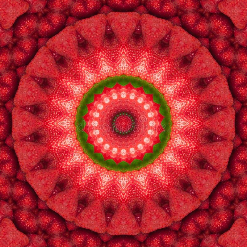 De verse caleidoscoop van het aardbei abstracte patroon vector illustratie