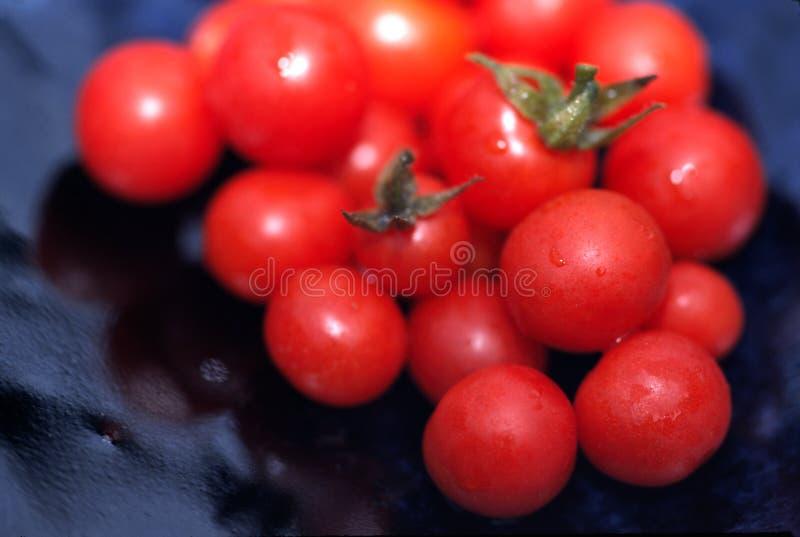 De verse Geplukte Tomaten van de Kers stock afbeeldingen
