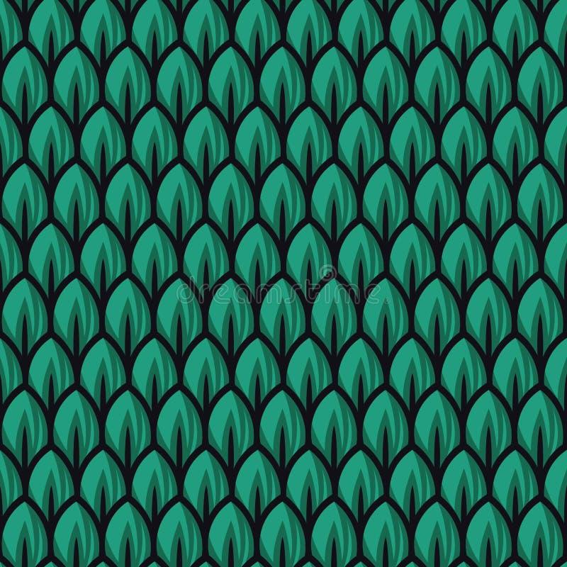 De verse groene illustraties van het bladpatroon royalty-vrije illustratie