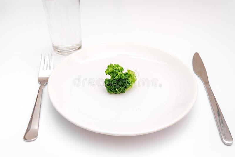 De verse groenten van het conceptendieet op plaat bij witte achtergrond stock foto's