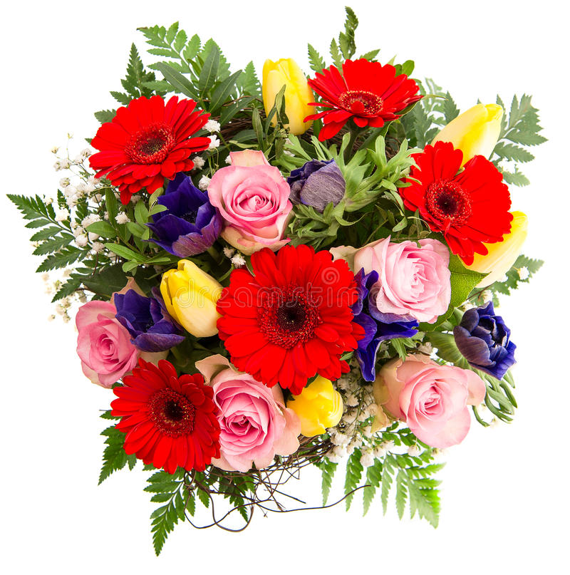 De verse kleurrijke lente bloeit boeket stock foto's