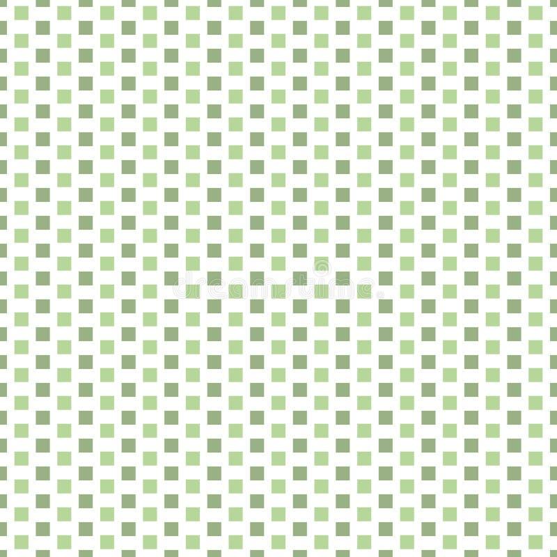 De verse lichte en donkergroene verticale rijen van vierkanten in baksteen herhalen ontwerp Naadloos geometrisch vectorpatroon op stock illustratie