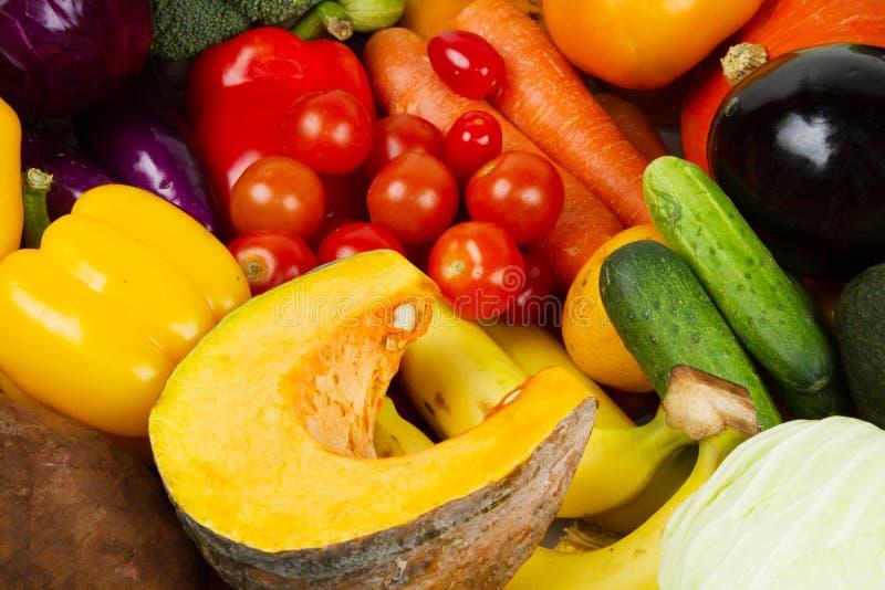 De verse organische Groenten bij kruidenierswinkel sluiten omhoog royalty-vrije stock foto