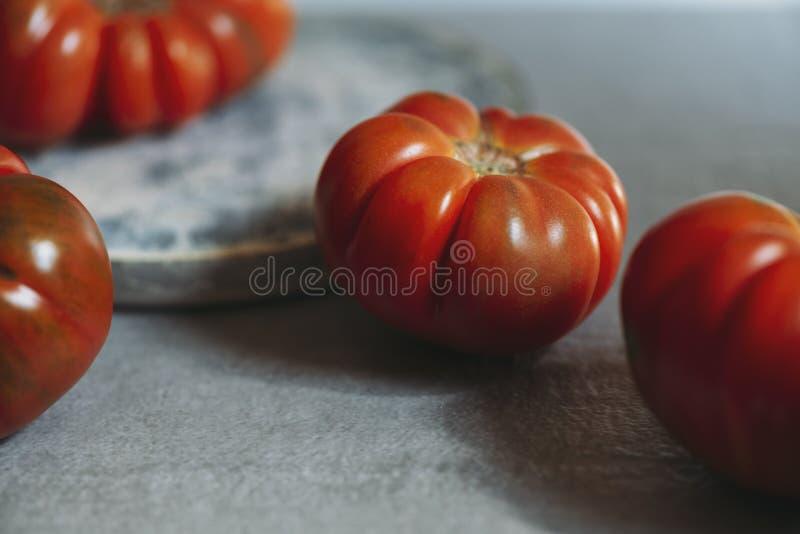 De verse rode rode tomaten van Marmande R.A.F. royalty-vrije stock afbeeldingen