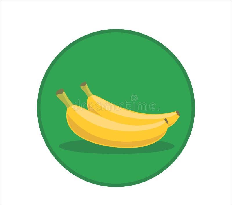 De verse vectorillustratie van het banaanbeeldverhaal Rond gemaakt symboolpictogram stock illustratie