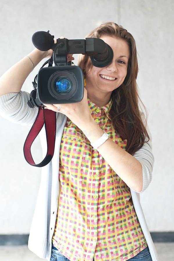 De verslaggever van de vrouw royalty-vrije stock foto's