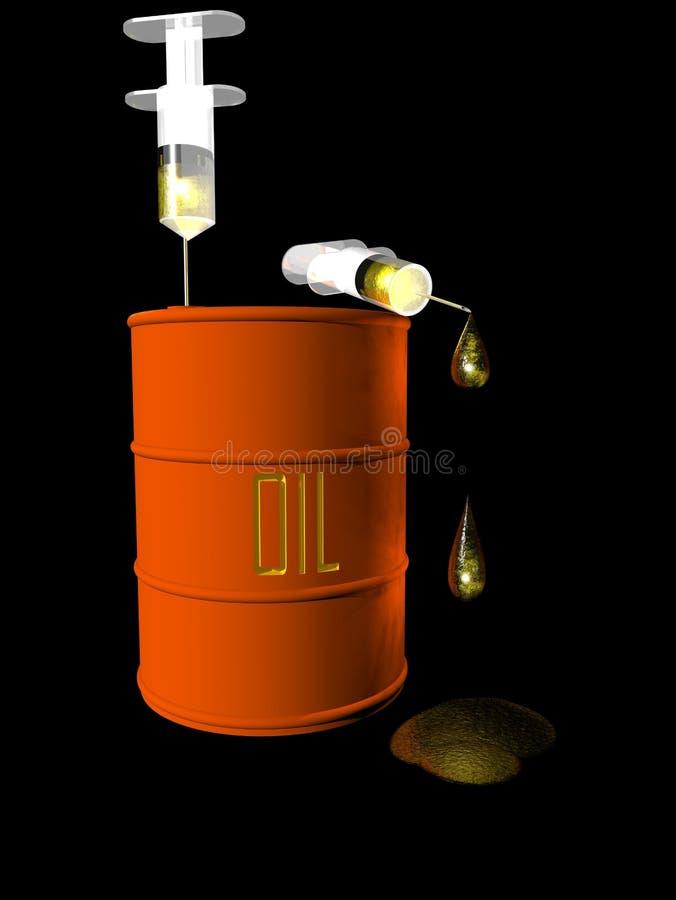 De Verslaving van de olie stock illustratie