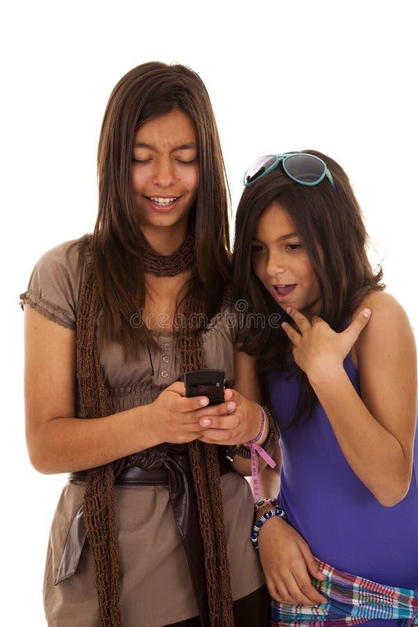 De verslaving van de tiener sms royalty-vrije stock foto's