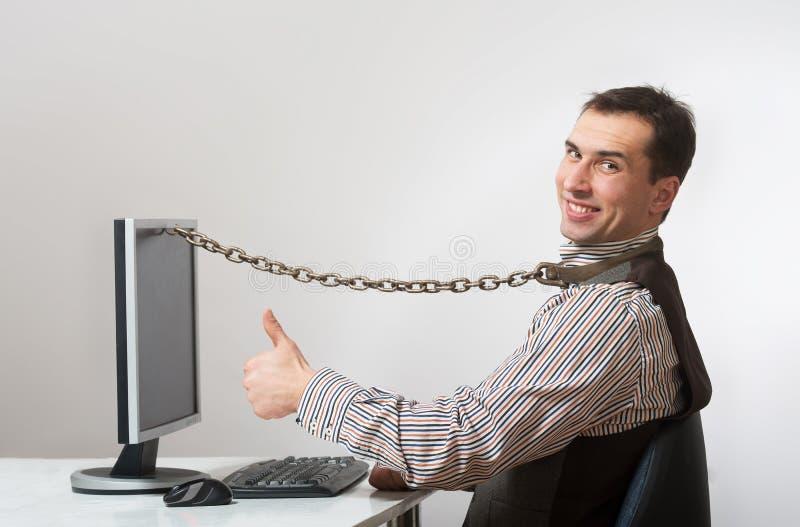 De verslaving van Internet en van de computer royalty-vrije stock afbeeldingen