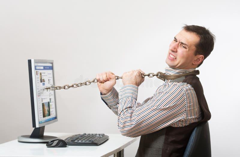 De verslaving van Internet en van de computer royalty-vrije stock fotografie