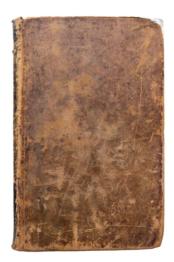 De versleten Dekking van het leerboek royalty-vrije stock afbeeldingen