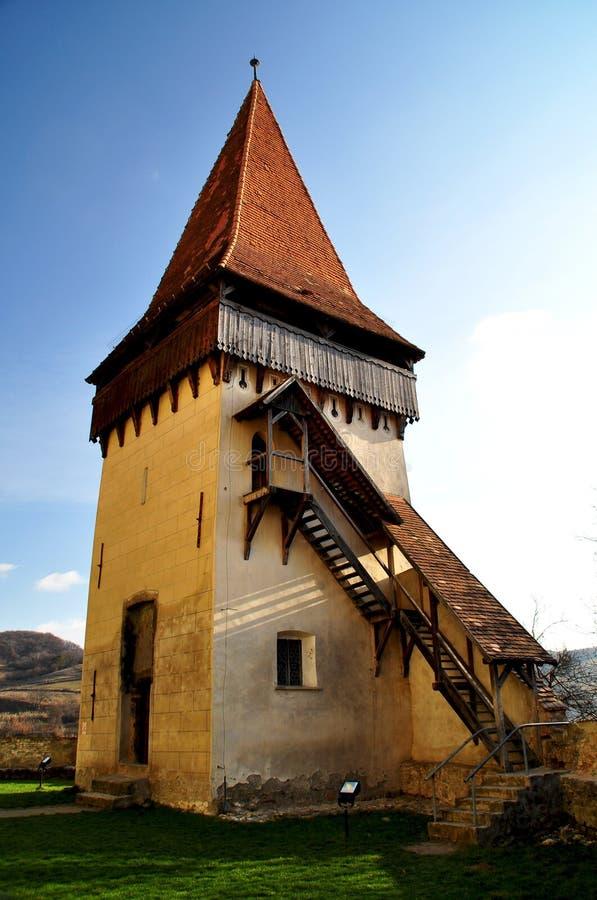 De versterkte kerk van Biertan, Transsylvanië, Unesco-erfenis royalty-vrije stock fotografie