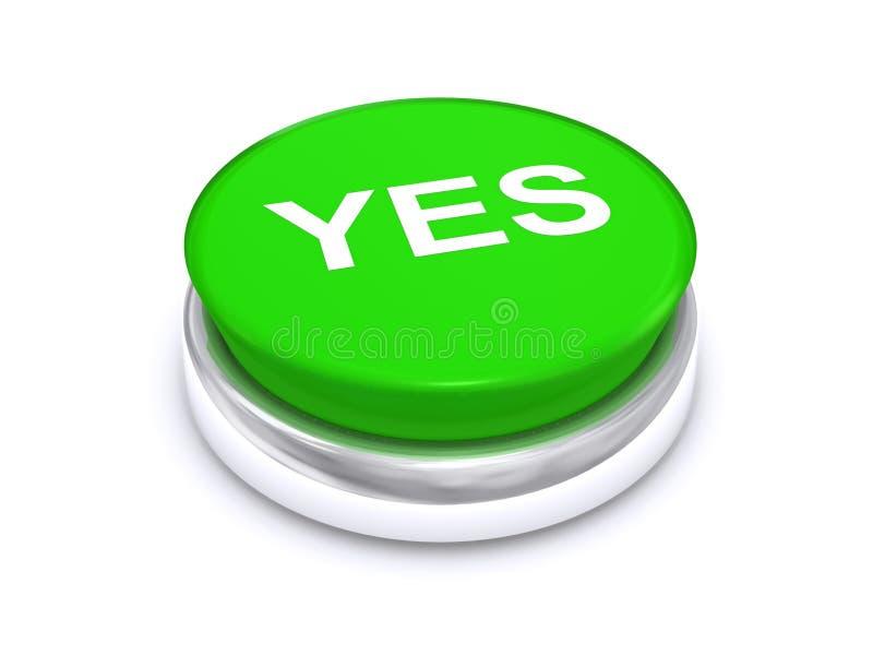 De vert bouton oui illustration libre de droits