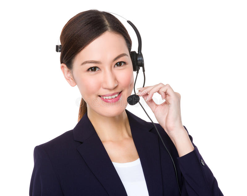 De vertegenwoordiger van de klantendiensten royalty-vrije stock afbeelding