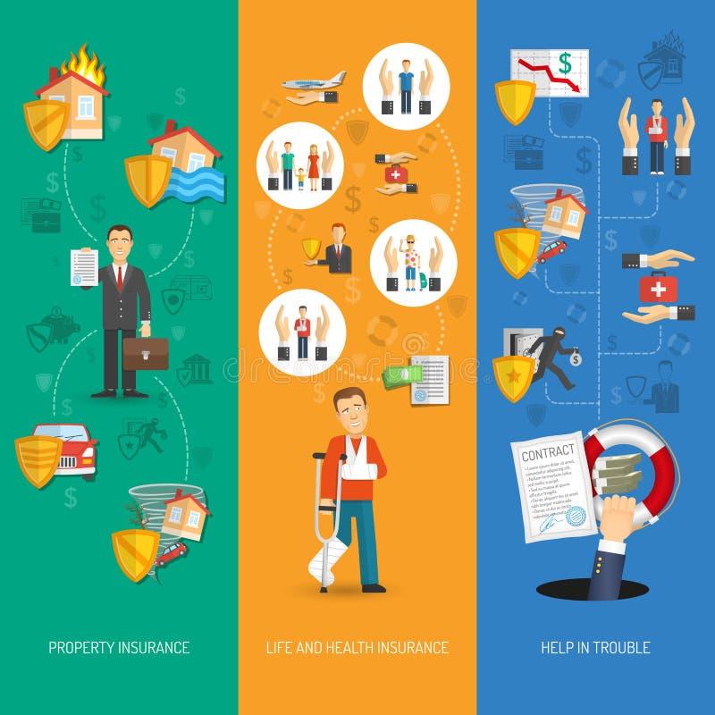 De Verticaal van de verzekeringsbanner royalty-vrije illustratie
