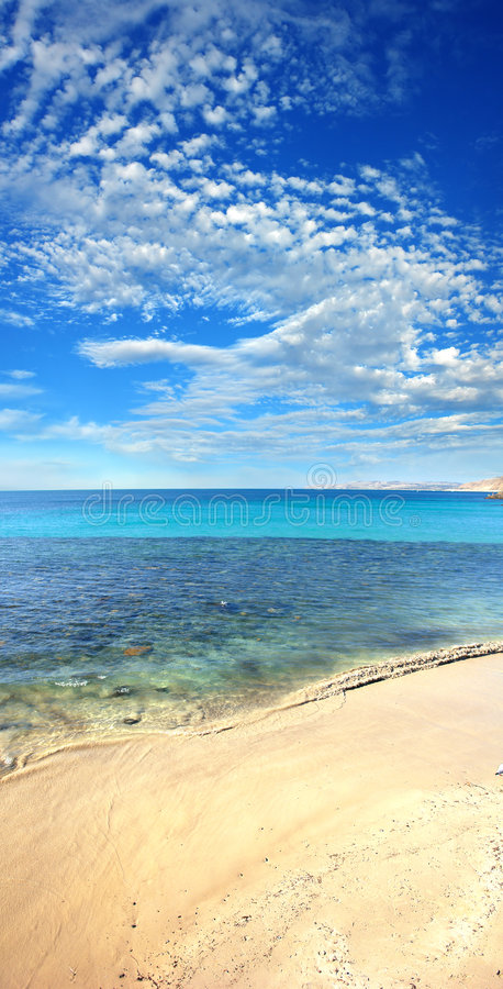 De Verticaal van het strand royalty-vrije stock fotografie