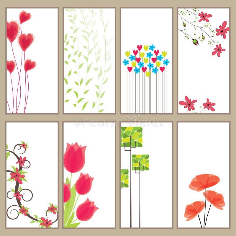 De verticale Banner Collec van de lente. vector illustratie royalty-vrije stock afbeeldingen