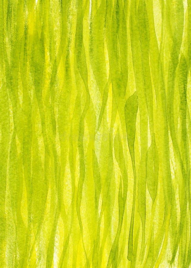De verticale die achtergrond van het de lentegras met gouache wordt geschilderd stock fotografie