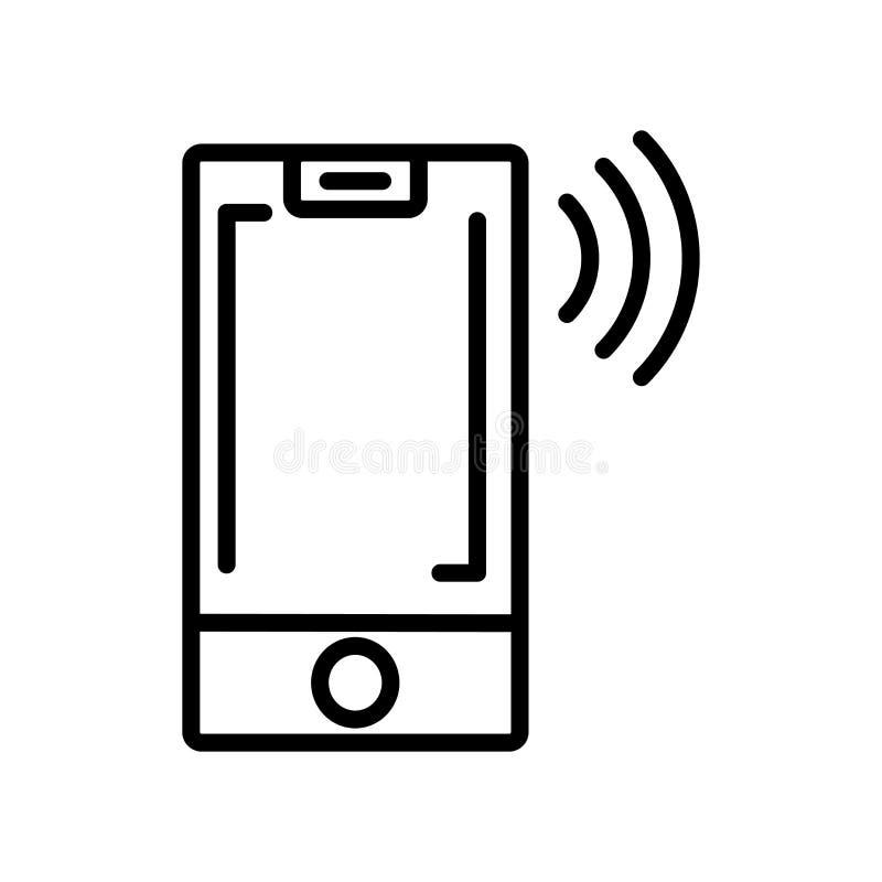 De verticale die vector van het iPhonepictogram op witte achtergrond, Vertic wordt geïsoleerd royalty-vrije illustratie