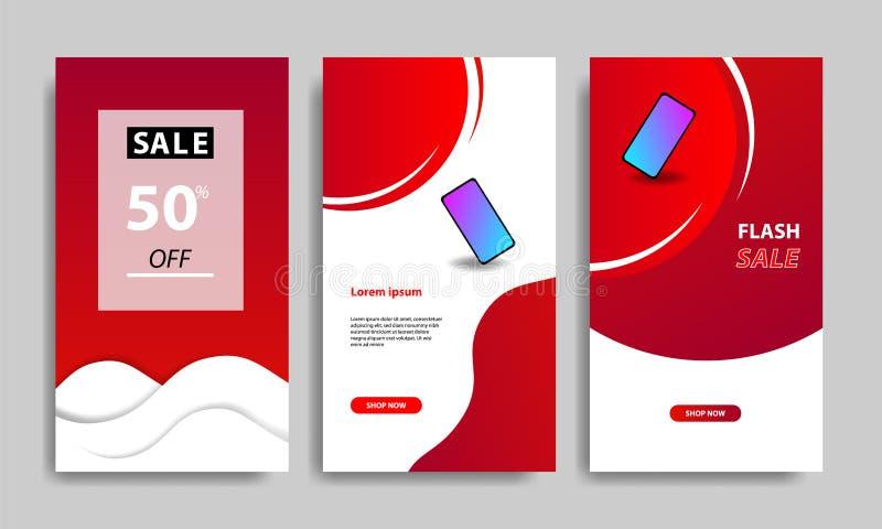 De verticale moderne vloeibare achtergrond van het malplaatjeontwerp met gradiënt rode, zwarte en trillende violette kleur voor v stock illustratie