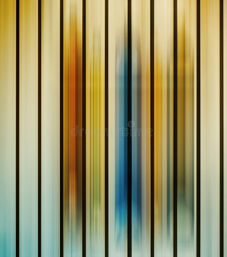 De verticale multicolored parallelle lichten van het motieonduidelijke beeld royalty-vrije illustratie