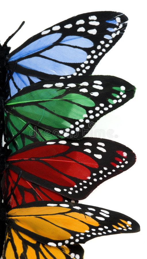 De verticale Stapel van de Vlinder - juiste vleugels royalty-vrije stock foto