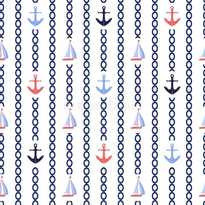 De verticale strepen zeevaartvector herhaalt patroon royalty-vrije illustratie