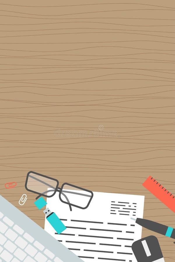 De verticale van het het conceptenbureau van de bannerinzameling hoogste mening stock illustratie