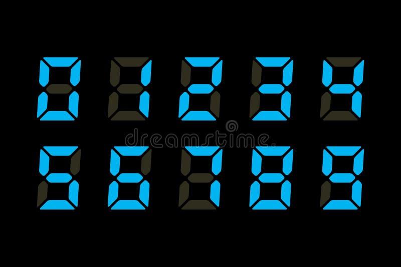 De Vertoning van cijfers vector illustratie