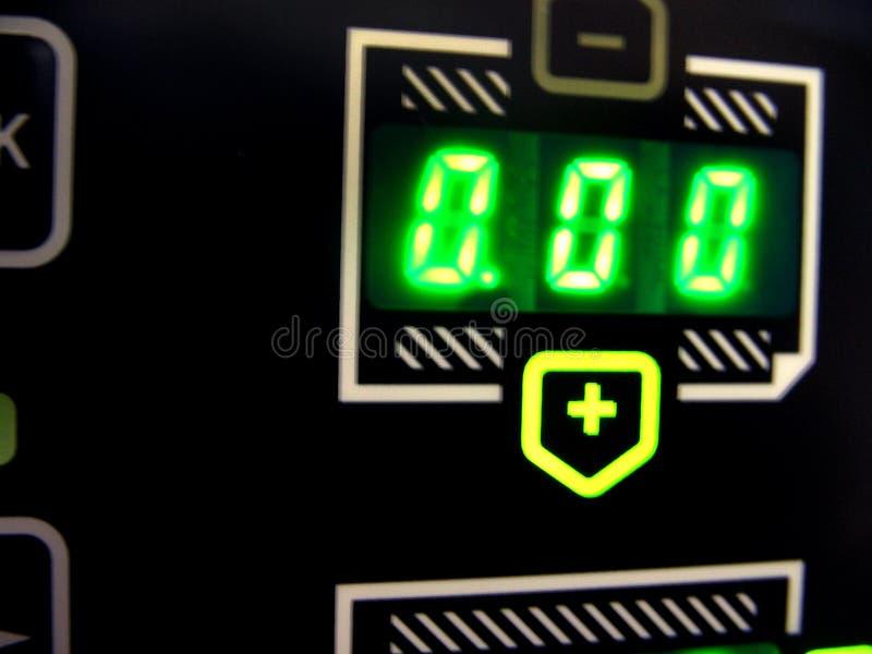 De vertoning van de de machinecontrole van de pers stock afbeelding