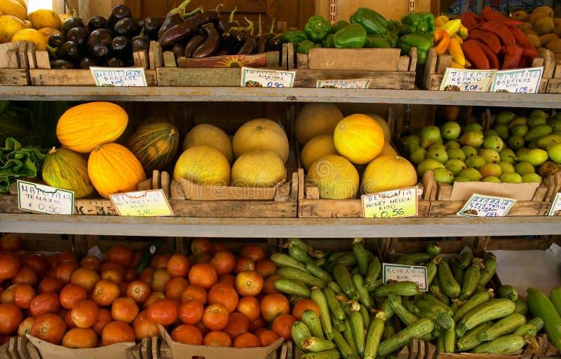 De vertoning van de fruithandelaar stock fotografie