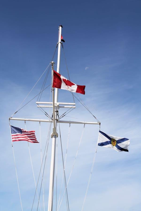 De Vertoning van de vlag royalty-vrije stock afbeeldingen